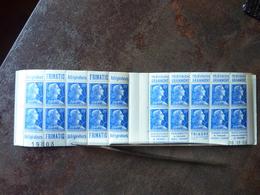 Marianne De Muller (20F Bleu) 20 Timbres YT= 1011B-C14  ** MNH Parfait état - Carnets