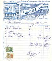 Factuur Facture - Fabriek Breigoederen Ellegoederen Zwartjes Gebrs - Brugge 1953 - Textile & Clothing