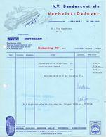 Factuur Facture - NV Bandencentrale Verhelst - Defever - Oostende 1969 - Pirelli - Metzeler - Transport