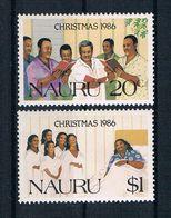 Nauru 1986 Weihnachten Mi.Nr. 328/29 Kpl. Satz ** - Nauru