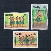 Nauru 1987 Tänze Mi.Nr. 330/32 Kpl. Satz ** - Nauru