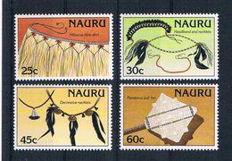 Nauru 1987 Kunsthandwerk Mi.Nr. 333/36 Kpl. Satz ** - Nauru