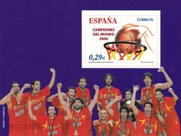 2006, Spanien, 4162 Block 151, Gewinn Der Basketball-Weltmeisterschaft Durch Die Spanische Nationalmannschaft.  MNH ** - 2001-10 Unused Stamps