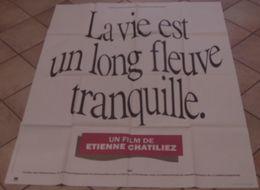 AFFICHE CINEMA ORIGINALE FILM LA VIE EST UN LONG FLEUVE TRANQUILLE CHATILIEZ MAGIMEL VINCENT JACOB TBE 1988 - Posters