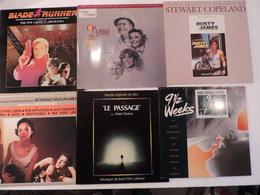 """Lot 7 Vinyles . """"LE PASSAGE"""",""""La Maison Du Lac"""", """"A VIEw To A KILL"""", """"BLADE RUNNER"""", """"9 SEMAINES 1/2"""", """". Très Bon état. - Musique De Films"""