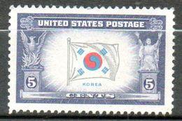 ETATS UNIS  Drapeau De La Corée 1943-44 N°462 - Verenigde Staten