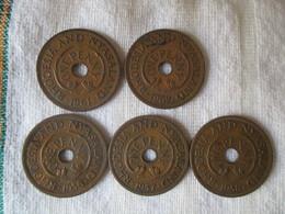Rhodesia & Nyassaland: 1 Penny 1956, 1957, 1959, 1961, 1962 - Rhodesia