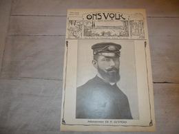 """Origineel Knipsel ( 1238 )  Uit Tijdschrift """" Ons Volk """" : Ed. F. Cuypers  Stabroeck Stabroek Boot """" L' Avenir """" 1912 - Vieux Papiers"""