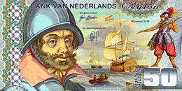 50 Gulden Ceylan Netherlands 18 Janvier  2016 UNC  POLYMER  Essai - Spécimen - [6] Vals & Specimen