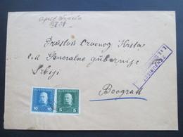 Österreich Ungarische Feldpost Ca. 1917 Nr. 25 MeF Zensuriert KuK Zensurstelle Belgrad - 1850-1918 Imperium