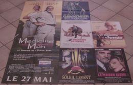 LOT 6 AFFICHES CINEMA ORIGINALES FILMS SEAN CONNERY RENCONTRE FORRESTER SOLEIL LEVANT MAISON RUSSIE MEURTRE EN DIRECT TB - Posters
