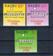 Nauru 1988 Weihnachten Mi.Nr. 354/56 Kpl. Satz ** - Nauru