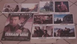 AFFICHE CINEMA ORIGINALE FILM TERRAIN MINE + 8 PHOTOS EXPLOITATIONS STEVEN SEAGAL Michael CAINE 1994 TBE - Posters