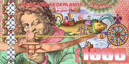 Magnifique 1000 Gulden Ceylan Netherlands 6 Avril 2016 UNC  POLYMER  Essai - Spécimen - [6] Vals & Specimen