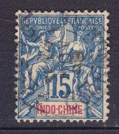 French Indochina Indochine 1892-1903 Mi. 8    15c. Allegorie - Gebraucht