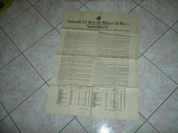 MANIFESTO DEL DISTRETTO MILITARE DI MASSA 1913. - 1914-18