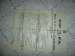 MANIFESTO MINISTERO DELLA GUERRA AMMISSIONE NELLA SCUOLA E ACCADEMIA 1901 - 1914-18