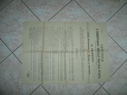 WW1 MANIFESTO MASSA E CARRARA DENUNCIA E PRECETTAZIONE DELL'OLIO DI OLIVA 1918 - 1914-18