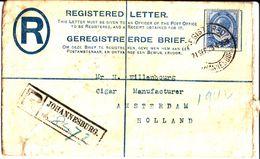 Registered Letter. Johannesburg. Union Of South Africa 1920 - Afrique Du Sud (1961-...)