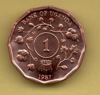 UGANDA - 1 SHILLING 1987 KM27 - Uganda