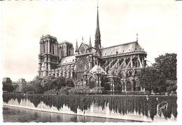 POSTAL  PARIS  -FRANCIA  -ABSIDE DE LA CATEDRAL DE NÔTRE-DAME - Notre Dame De Paris