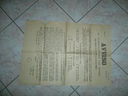 WW1 MANIFESTO FIVIZZANO AVVISO DI PUBBLICAZIONE DEI RUOLI DELL'IMPOSTA 1910. - 1914-18