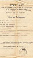 PLOUNEVEZ - LOCHRIST - Acte De Naissance De Anne-Louise RIOU Fille De Ernest Et De GUEDON Louise, Née Le 11 Avril 1922 - Old Paper