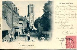 N°3560 A -cpa Villers Sur Mer -la Rue De L'église- - Villers Sur Mer