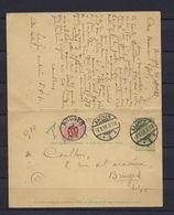 N°TX4 OP KAART GESTEMPELD Bruges (details Zie 2 Scan's) COB € +10,00 SUPERBE - Strafportzegels