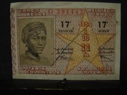 BilLot. 18. Billet De Tombola De La Loterie Coloniale De 1950 - Billetes De Lotería