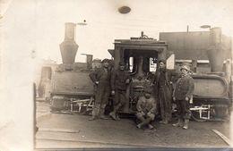 LOCOMOTIVE à VAPEUR  -  Carte Photo - Trains