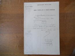 ORDRE NATIONAL DE LA LEGION D'HONNEUR LE 8 SEPTEMBRE 1874 FARINET ALEXANDRE LIEUTENANT AU 9e REGIMENT DE CUIRASSIERS CHE - Documents