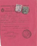 RICEVUTA DI RITORNO 1925 CON CENT.50+10 SS - TIMBRO CASUMARO (RX41 - Storia Postale