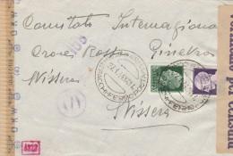 LETTERA 1944 CROCE ROSSA CENSURA NAZISTA- TIMBRO PARMA FERMO POSTA (RX69 - 1900-44 Vittorio Emanuele III