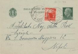 Biglietto Postale Di Regno Usato Come Supporto In Repubblica; Tariffa Di 4 Lire Nell'ambito Del Distretto Postale (RX81 - 6. 1946-.. Repubblica