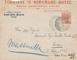 LETTERA PRIMI 900 CENT.60 - TIMBRO S.MARGHERITA LIGURE (RX121 - 1900-44 Victor Emmanuel III.
