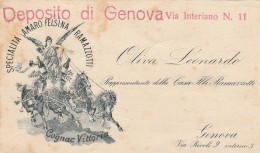 BIGLIETTO DEPOSITO DI GENOVA RAMAZZOTTI 1921 (RX131 - Azioni & Titoli