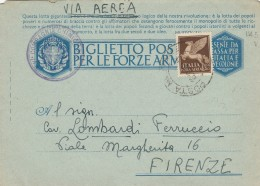 BIGLIETTO POSTALE  IN FRANCHIGIA +0,50 POSTA AEREA - QUESTA LOTTA GIGANTESCA (RX165 - 1900-44 Vittorio Emanuele III