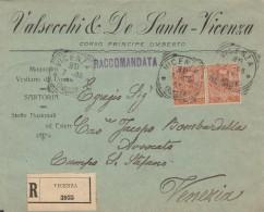 RACCOMANDATA CON COPPIA CENT.20 1906 TIMBRO VICENZA (RX207 - 1900-44 Vittorio Emanuele III