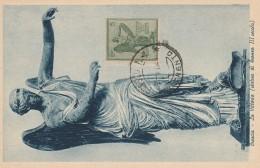 CARTOLINA 1921 FDC ANNIVERSARIO VITTORIA 5 CENT. -BRESCIA (RX250 - Marcophilia