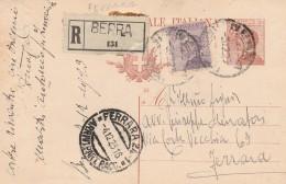 INTERO POSTALE RACCOMANDATO 30+50 CENT TIMBRO FERRARA (RX252 - 1900-44 Victor Emmanuel III