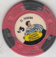 PANAMA - Casinos Nacionales De Panama, Chip B/5 - Casino