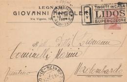 CARTOLINA POSTALE CENT.30 1924 - TIMBRO LIDOS SUPERCOLORE (RX292 - Storia Postale