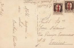 CARTOLINA 1944 REPUBBLICA SOCIALE COPPIA CENT.30 -BUON ANNO (RX318 - 4. 1944-45 Repubblica Sociale
