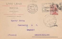 CARTOLINA 1924 CON CENT.30 - TIMBRO LA RINASCENTE (RX321 - 1900-44 Vittorio Emanuele III