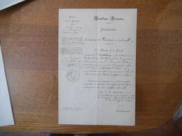 10 SEPTEMBRE 1875 COMMISSION DE GENDARME A CHEVAL NOMINATION A MEHUN S/YEVRE DE BARTHELEMY PAUL NE LE 25 JANVIER 1850 - Documents