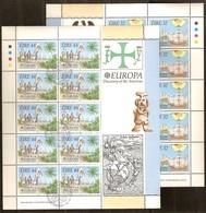 Irlande Ireland Ierland CEPT 1992  Yvertn° 795-796 Feuillets Complètes (°) Oblitéré Used Cote 40 Euro Colombus Colomb - 1949-... République D'Irlande