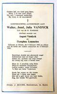 Doodsprentje / Image Mortuaire - Kind / Enfant - Walter VANDYCK (Lommelen) °Olmen, 1961 - +1961 - Religión & Esoterismo