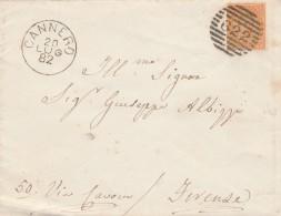 LETTERA 1882 CON CENT.20 TIMBRO CANNERO (RX493 - 1878-00 Humbert I