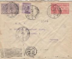 LETTERA 1925 CON CENT.50+60 ESPRESSO+15 CENT. POSTA PNEUMATICA -TIMBRO NAPOLI (RX556 - Storia Postale